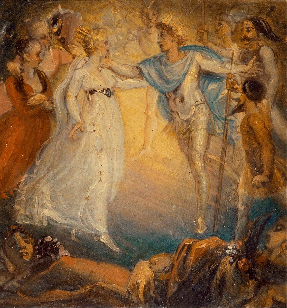 Thomas Stothard - Oberon and Titania from %22A Midsummer Night%27s Dream,%22 Act IV, Scene i - Google Art Project.jpg