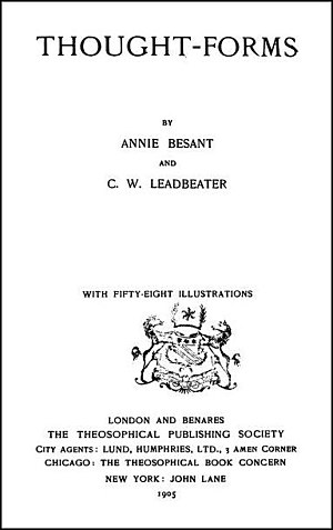 Thought-Forms (book) - 2nd reprint title page, 1905