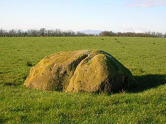 The Ogrestone or Thurgartstone is situated on the lands of Brandleside Farm near the Chapel Crags Thurgartstone3.JPG