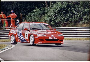 Tim Harvey - Harvey driving a Peugeot 406 in the 1996 British Touring Car Championship season.