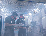 Tim Kopra and Tim Peake during emergency scenario training.jpg