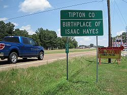 Tipton County TN Birthplace of Isaac Hayes US51.jpg