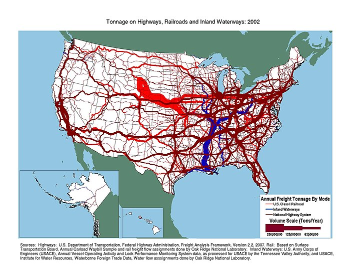 Tonnage on highways, railroads, and inland waterways Tonnage on highways, railroads, and inland waterways.jpeg