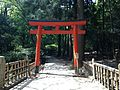 Torii for Doitsubashi Bridge in Oasahiko Shrine.JPG