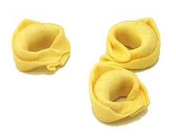 The distinctive shape of tortellini