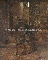 Toulouse-Lautrec - CELEYRAN, TONNELIER A LA CAVE, 1880, MTL.42.jpg