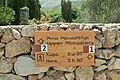Tourist signpost, Zoodochos Pigi, Anafi, 176383.jpg