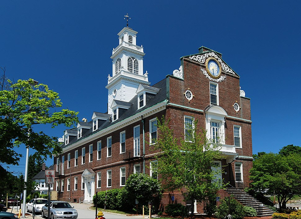 Town Hall, built in 1928 as a replica of the Old State House, Boston