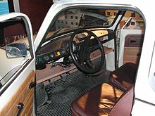 Simple automobile interior