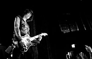Trace Cyrus - Cyrus performing in Chicago in 2008