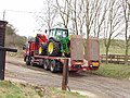 Tractor on low loader, near Chalfont St Giles - geograph.org.uk - 114897.jpg