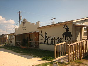 "George West, Texas - ""Trailside Artisan"", a business catering to Western goods and services, in George West"