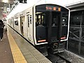 Train for Sasaguri Station at Hakata Station.jpg