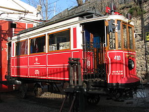 Istanbul nostalgic tramways - Tram depot close to the Taksim