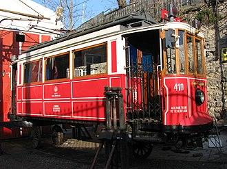 Istanbul nostalgic tramways - Tram depot close to the Taksim