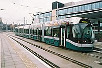 Tram at Station Street terminus in Nottingham - geograph.org.uk - 133038.jpg