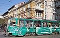 Tram in Sofia near Central mineral bath 2012 PD 072.jpg