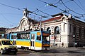 Trams in Sofia in front of Central Market Hall 2012 PD 01.JPG