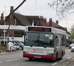 Travel Surrey - Plaxton Pointer bodied Dennis Dart in Riley in April 2008