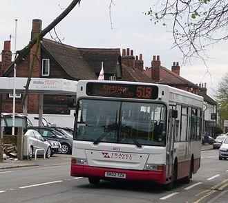 Travel Surrey - Plaxton Pointer bodied Dennis Dart in Riley in April 2008
