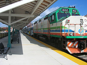 EMD F40PH - Tri-Rail M-K F40PHL-2 No. 802 at West Palm Beach in 2011