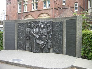 1893 in New Zealand - Tribute to the Suffragettes, Christchurch, New Zealand