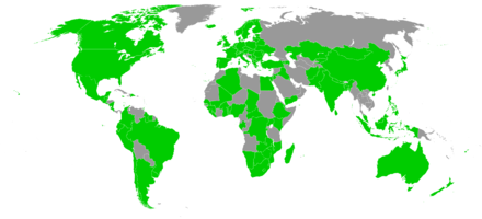 Ratifications of 1976 Tripartite Consultation Convention Tripartite.png