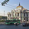 Trolleybus passing Palacio de Bellas Artes in 2013 (11519522676).jpg