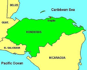 Banana production in Honduras - Location of Trujillo and the Bay Islands as the centre of Honduran coastal banana production