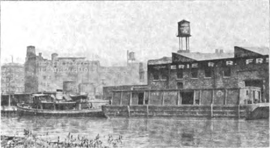Tug and Barge at Erie Street