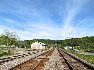 Tunnel Hill, Georgia - Railroad tracks passing through Tunnel Hill
