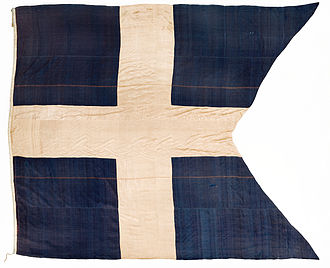 Flag of Sweden - Early variant of state flag and war ensign. This design was also used by the Swedish East India Company.