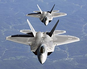 F-22 Raptor fifth generation stealth fighter aircraft
