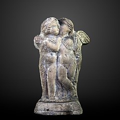 Two cupids kissing-AM 44