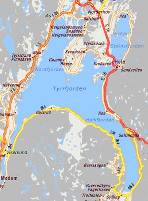 Tyrifjorden - Tyrifjorden map