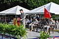U.S. Army Lt. Gen. Jeffrey Talley, at the podium, the chief of Army Reserve, and the commanding general of the U.S. Army Reserve Command gives remarks at the change of command ceremony of the 1st Mission Support 131214-A-CV700-006.jpg