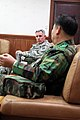 U.S. Army Lt. Gen. John Johnson, left, the commanding general of the Eighth U.S. Army, visits with South Korean army Gen. Lee Chul-hyee, the commanding general of the 2nd Operational Command (2OC), at the 2OC 110309-A-AP548-015.jpg