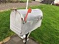 U.S. Mail box, Emigrantkyrkja (Brampton Lutheran Church, North Dakota) & Vestnorsk utvandringssenter (Western Norway Emigration Center), Radøy, Hordaland, Norway 2017-10-03.jpg