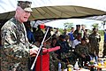 U.S. Marine Corps Lt. Gen. John Toolan, left, the commander of Marine Corps Forces Pacific, speaks during the closing ceremony of Malaysia-United States Amphibious Exercise (MALUS AMPHEX) 2014 Sept 140902-M-CB493-026.jpg
