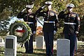 U.S. Marines place wreaths for the 241st Marine Corps Birthday in Arlington National Cemetery (30864336236).jpg