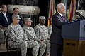 U.S. Secretary of Defense Robert M. Gates addresses the audience at a U.S. Forces-Iraq change of command ceremony in Baghdad, Iraq, Sept 100901-N-TT977-179.jpg