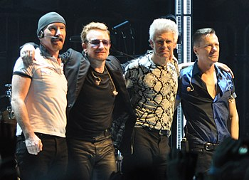 U2 are the only group act to win twice in 1988 and 2006 U2 2015.jpg