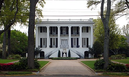 The President's Mansion, opposite Denny Chimes - University of Alabama