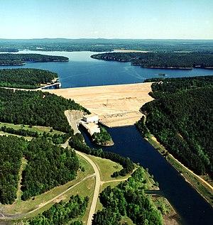 DeGray Lake Resort State Park - DeGray Lake and Dam