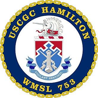 USCGC Hamilton (WMSL-753) - Image: USCGC Hamilton Crest