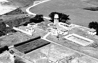 Table Bluff Light - USCG photo shows lighthouse complex. Note lighthouse on lower left corner of photo. Circa 1951