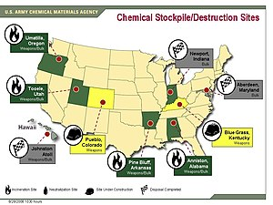 United States Army Chemical Materials Activity - Image: US Chemical Weapons Stockpiles 082808