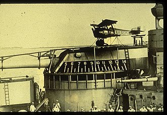 Hanriot HD.2 - USN Hanriot HD.2C landplane on USS Mississippi's turret