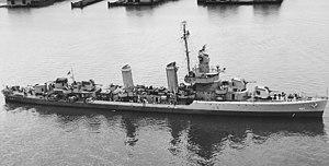Benson-class destroyer - Image: USS Benson DD 421 01