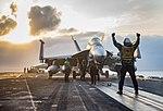 USS Carl Vinson conducts flight operations. (33945849623).jpg